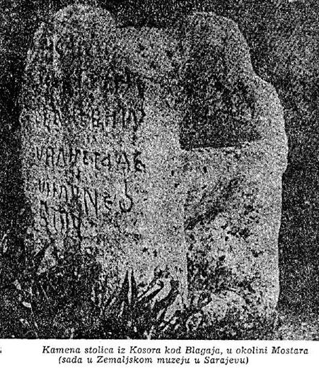 Kamena stolica, Kosor