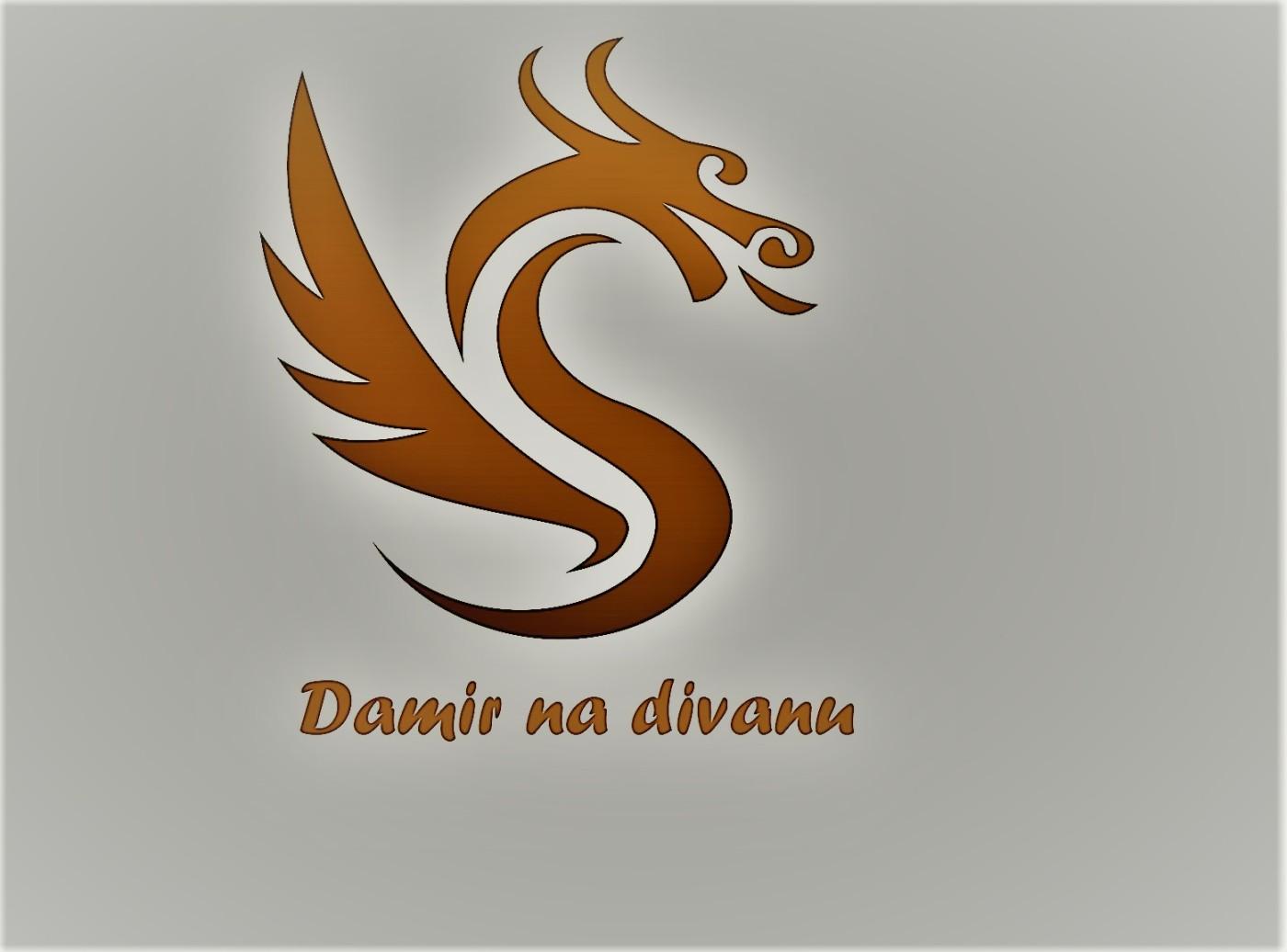 luxury dragon logo design concept template