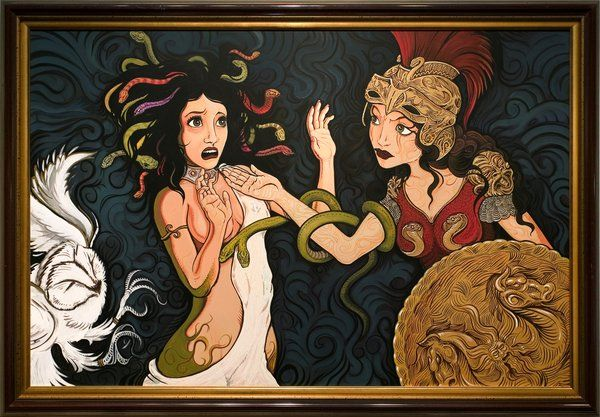 Medusa-Being-Punished-By-Athena